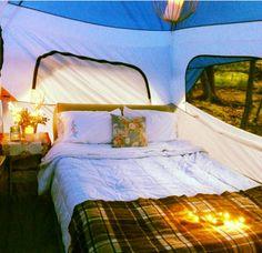 Romantic camping