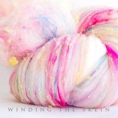 Spinning fiber art batt Wool Batt felting batt by windingtheskein, $29.00