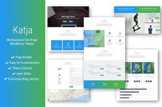 Katja - Multipurpose One Page Theme Themes Katja is multipurpose WordPress theme designed with ease of use in mind: it's easy for customization by Site Website, Website Themes, Website Designs, Business Illustration, Pencil Illustration, Business Brochure, Business Card Logo, Browser Support, Themes Themes