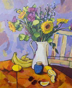 Me encantan lo bodegones y me encantan los cuadros de colores vivos y alegres, así que al encontrarme con la pintura de Angus Wilson quedé i...