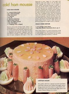 Cold Ham Mousse. That's a negatory.