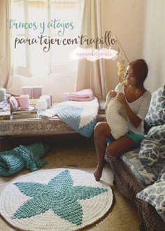 Carpet Runners In South Africa Key: 9038906550 Crochet Carpet, Crochet Home, Love Crochet, Crochet Baby, Knit Crochet, Tapetes Diy, Knit Rug, Doily Rug, Crochet T Shirts