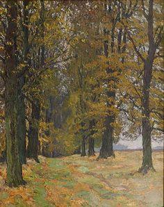 ✨  Otto Altenkirch - Lindenallee nach Drehfeld, 1942, Öl auf Leinwand, 85 x 67 cm, WVZ Petrasch 1942-37-S