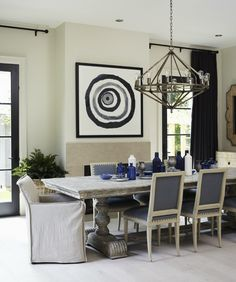Edgy Traditional Dining Room