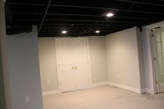 BraySam Lane: Basement Remodel With Painted Exposed Ceiling