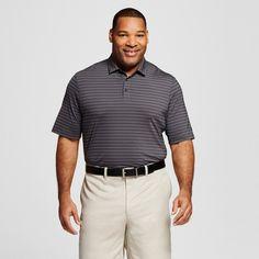 Men's Big & Tall Stripe Golf Polo Silverstone Tonal Stripe M- Tall - C9 Champion, Size: M Tall