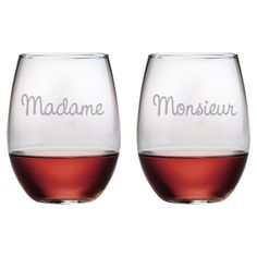 2-Piece Amour Stemless Wine Glass Set - A Gray Area on Joss & Main
