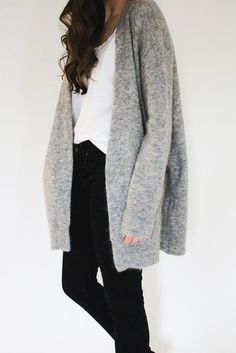 cardigan grey light grey long hipster long sleeves wool jacket minimalist winter outfits winter jacket grey cardigan mohair long cardigan long jacket