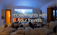 Movie nights with friends  #Little reasons to smile <3
