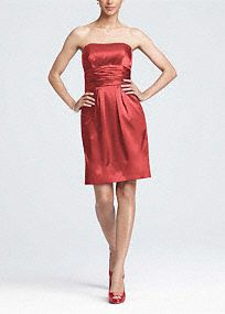 Is this the JR dress?? This short charmeuse dress is fun and stylish. The strapless neckline is sleek and fun. It has a ruched waist and pockets! Wear this dress to a wedding and again for another special occasion. The basic silhouette will keep this dress in your closet for years. Fully lined. Back zip. Imported polyester.