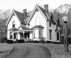 Gothic revival victorian houses on pinterest gothic for Gothic revival farmhouse