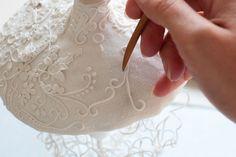 Kathleen Engelen, work in progress, polymer clay.