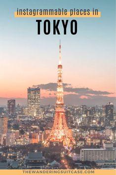 Instagrammable places in Tokyo, Japan. Photographic places in Tokyo. Instagram spots in Tokyo. Visit Tokyo, Visit Japan, Tokyo City, Tokyo Japan, Tokyo Travel, Asia Travel, Universal Studio Osaka, Naoshima Island, Tokyo Skyline