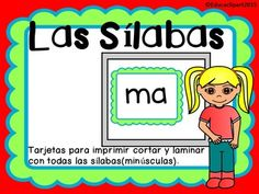 This is a pdf file with all the spanish syllables (NOT Caps). Just print, cut, laminate and use for practice.Documento pdf con las slabas en espaol (minsculas). Solo imprime, corta, lamina y usa para prcticar.