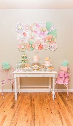 A pretty, peach baking birthday party