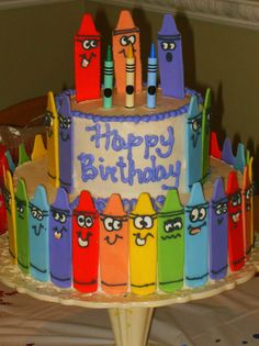 Coolest Crayon Birthday Cake | Birthday ideas | Pinterest | Birthday ...