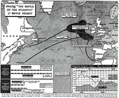 The Battle of the Atlantic was fought in the Atlantic Ocean, North Sea, Irish Sea, Labrador Sea, Gulf of St. Lawrence, Caribbean Sea, Gulf of Mexico, Outer Banks, and Arctic Ocean Royal Canadian Navy, Royal Navy, Running The Gauntlet, Merchant Marine, Irish Sea, Old Images, North Sea, Gulf Of Mexico, Caribbean Sea