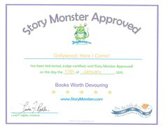 Story Monster Approved Honors Accomplished Children's Book Authors. Monsters Ink, Book Authors, Grade 1, Childrens Books, Magazine, Writing, Children's Books, Children Books, Kid Books
