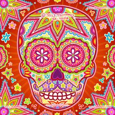 1000 Images About Sugar Skulls By Thaneeya On Pinterest