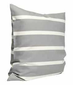 grey stripped pillow| H&M US
