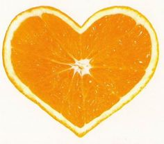 Orange heart - I am greatful that I have so much to love. I am greatful for all the love I receive. I am greatful that, sometimes like with this orange heart, love appears in unexpected packages.