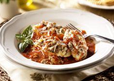italian sausage recipes | Shells with Italian Sausage and Ricotta Stuffing - Johnsonville.com