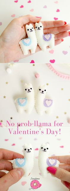 Llama felt brooches Valentine's day gift Because Valentine's Day would be different without who you love.If you are inseparable and a super funny couple, these are the pins you are looking for!*It's for you if*- You are a perfect couple- You don't like banal gift- You want an unforgettable Valentine's day