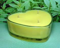 Lemon Verbena PURE SOY Heart Container Candle 16 oz.