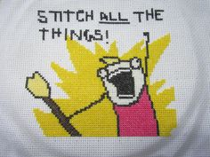 Stitch ALL the Things! Hyperbole and a Half  cross-stitch