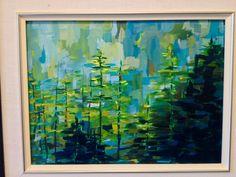 """""""Tree Top Serenade"""" acrylic, by Carla McGillivray"""