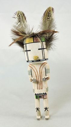 Kisa, Prairie Falcon Kachina is carved in the traditional style by Hopi artist Kevin Quanimptewa.