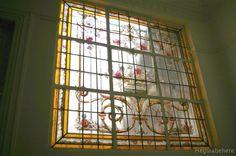 (Antes)Restauracion de Vitral ornamental lineas y colores deteriorados-mayo de 2010  #vitraux  #vidrio   #glass-art  #vetrata-decorata  #grisallas  cod:14a