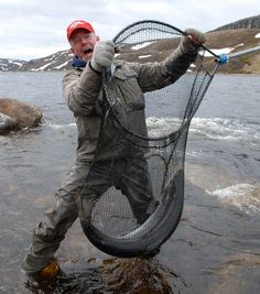Russia Salmon Fly Fishing - The fish were so big Bob had to use his wife's pantyhose for a net.