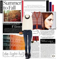 """summer to fall"" by isikac ❤ liked on Polyvore"