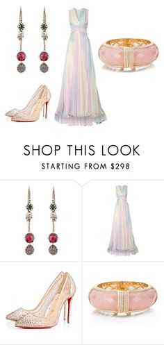 """""""Untitled #243"""" by michelle-konner ❤ liked on Polyvore featuring Alexander McQueen, Zuhair Murad, Christian Louboutin and Kate Spade"""