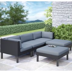 Have to have it. CorLiving Oakland Sofa Lounger Conversation Set - $1879 @hayneedle