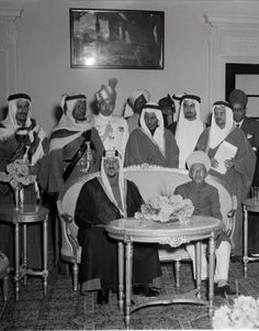Nizam VII Osman Ali Khan with King of Saudi Arabia Saud