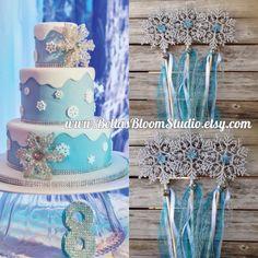 Frozen Birthday wands Snowflake Wands Elsa Frozen inspired Wand Wands Frozen Birthday Favors Frozen Birthday Party Frozen Decorations etsy by BellasBloomStudio on Etsy