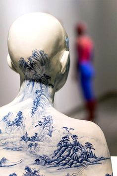 Ah Xian Sculpts Dreamlike Busts Flowing With Chinese Porcelain Designs