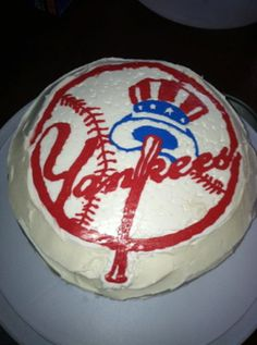 Birthday cake for a little Yankees fan I know