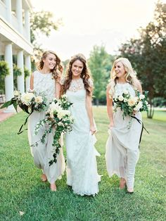 creamy bridesmaid dresses | Ryan Ray #wedding