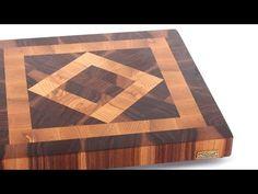 """""""Square in a square"""" end grain cutting board"""