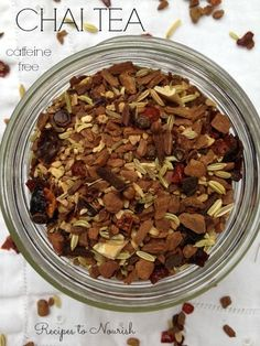 This Caffeine Free Immune Boosting Chai Tea is spicy, creamy and absolutely delicious! Packed with immune boosting spices and herbs, this tea is perfect as an afternoon warming drink or served at a holiday gathering. Tea Recipes, Smoothie Recipes, Whole Food Recipes, Drink Recipes, Smoothies, Yerba Mate, Yummy Drinks, Healthy Drinks, Recipes
