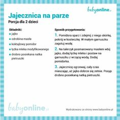 Jajecznica na parze Vogue Kids, Cooking With Kids, Kids And Parenting, Baby Food Recipes, Per Diem, Food, Recipes For Baby Food