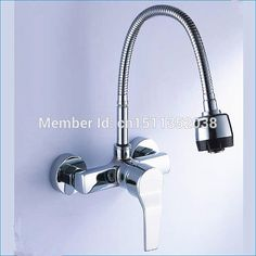 wall mount single handle dual hole kitchen faucet with sprayer,free Rotation kitchen faucet Sprinkler head,Free Shipping J14765