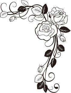 Материал для декораций угол розы - образец изображения