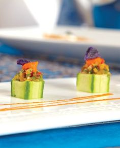 Serve this flavorful easy to make ceviche in scooped out cucumber cups for an elegant presentation.