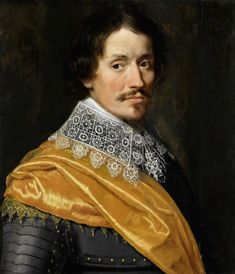 Portrait of an Officer, Wybrand de Geest, c. 1625 - c. 1635 ~ I've got links to period books in German language, with designs for lace just like this!