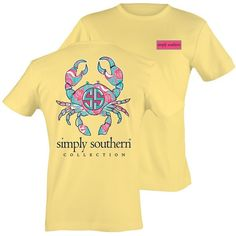 26de431c9bc Simply Southern Yellow CrabTee Shirt Short Sleeve T-Shirt Simply Southern  Shirts