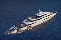 L'Ottantacinque, un yacht de luxe de 85m de long équipé de piscines ajustables - http://www.leshommesmodernes.com/ottantacinque-yacht/